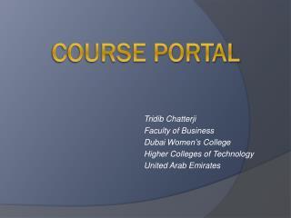 Course Portal