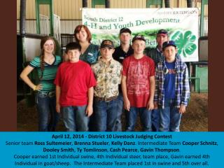 April 5,  2014 FFA Area 7 Horse  Judging Contest