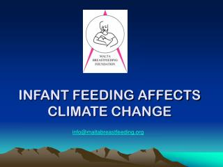 INFANT FEEDING AFFECTS CLIMATE CHANGE