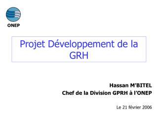 Projet Développement de la GRH