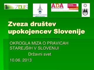 Zveza društev upokojencev Slovenije