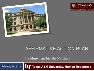 Affirmative action Plan It�s More than Just the Numbers