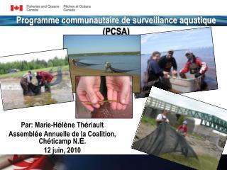 Programme communautaire de surveillance aquatique (PCSA)