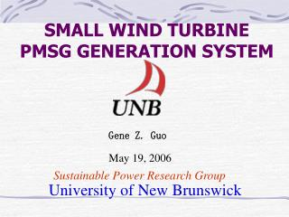 SMALL WIND TURBINE PMSG GENERATION SYSTEM