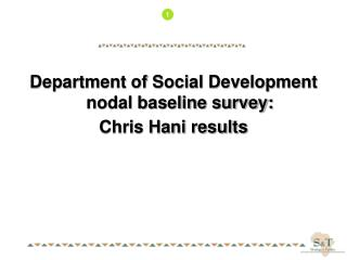 Department of Social Development nodal baseline survey: Chris Hani results
