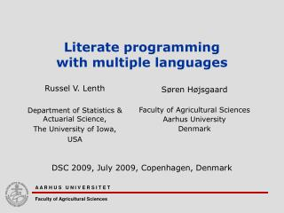 Literate programming  with multiple languages
