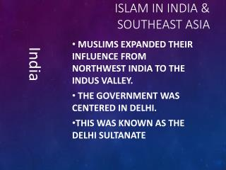 Islam in India & southeast Asia