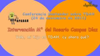 Conferencia Santander sobre TDAH (24 de noviembre de 2011)