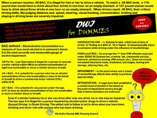 DWI  for  DUMMIES