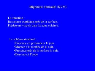 Migrations verticales  (DVM).