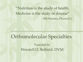 Orthomolecular Specialties