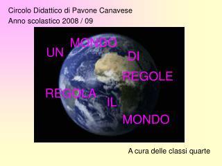 Circolo Didattico di Pavone Canavese Anno scolastico 2008