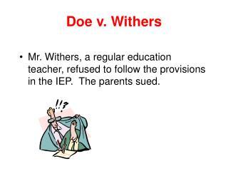 Doe v. Withers