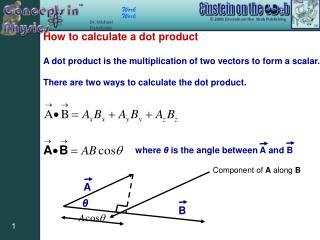 How to calculate a dot product