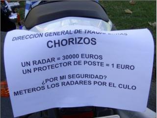 Con solo 1 radar, 77 multas diarias, en un año 28.000 multas, a 300 euros cada una: