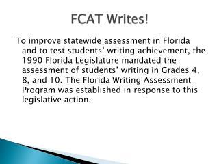 FCAT Writes!