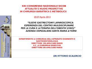 XXI  CONGRESSO NAZIONALE SICOB                   ATTUALITA ' E NUOVE PROSPETTIVE