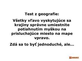 Test z geografie :