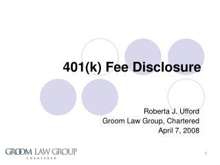 401k Fee Disclosure