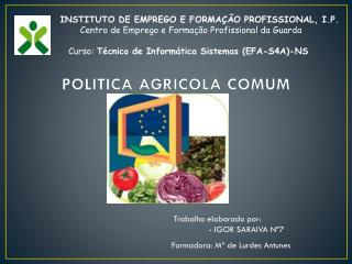 POLITICA AGRICOLA COMUM