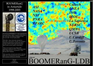 BOOMERanG  in Antartide 1998-2003