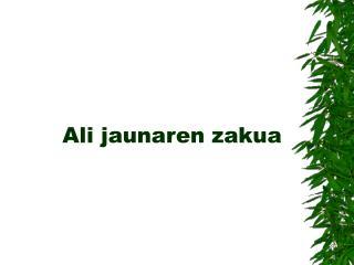 Ali jaunaren zakua