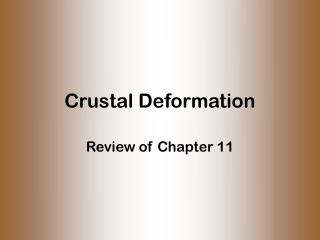 Crustal Deformation