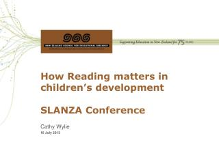 How Reading matters in children's development  SLANZA Conference