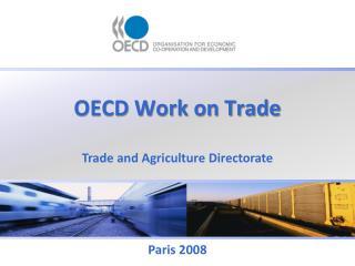 OECD Work on Trade