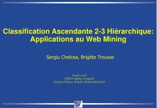 Classification Ascendante 2-3 Hiérarchique: Applications au Web Mining