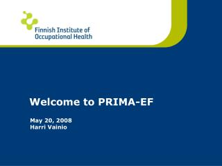 Welcome to PRIMA-EF