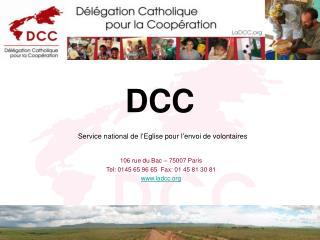 DCC Service national de l'Eglise pour l'envoi de volontaires
