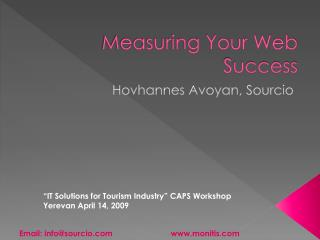 Measuring Your Web Success