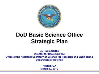 DoD Basic Science Office Strategic Plan