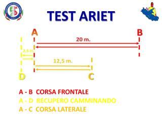 A - B  CORSA FRONTALE A - D  RECUPERO CAMMINANDO A - C  CORSA LATERALE