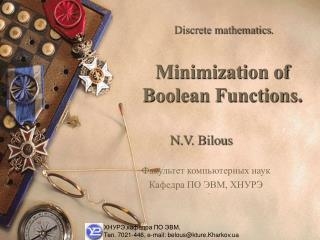 Minimization of Boolean Functions.