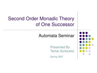 Second Order Monadic Theory of One Successor