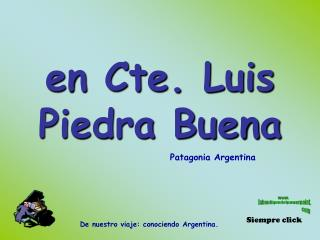 en Cte. Luis Piedra Buena