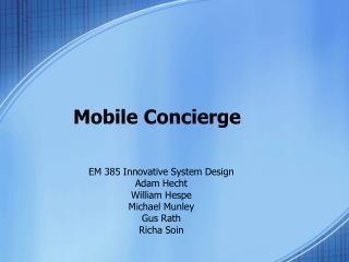 Mobile Concierge