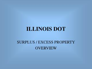ILLINOIS DOT