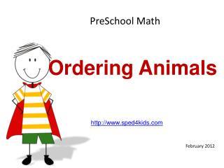Ordering Animals