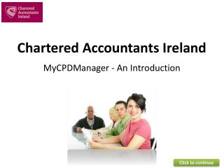 Chartered Accountants Ireland MyCPDManager  -  An Introduction