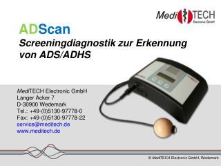 AD Scan Screeningdiagnostik zur Erkennung von ADS/ADHS