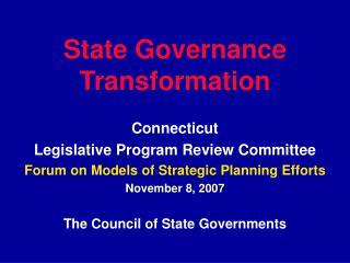State Governance Transformation