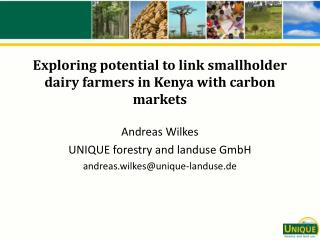 Exploring potential to link smallholder dairy farmers in Kenya with carbon markets