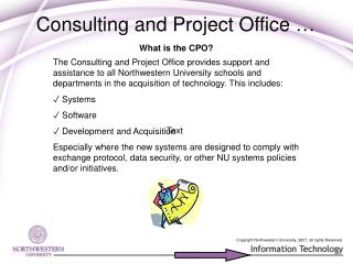 Consulting and Project Office …