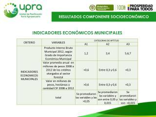 INDICADORES  ECONÓMICOS  MUNICIPALES