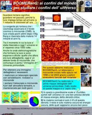 BOOMERanG: ai confini del mondo  per studiare i confini dell' universo
