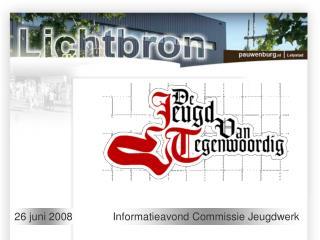 Informatieavond Commissie Jeugdwerk