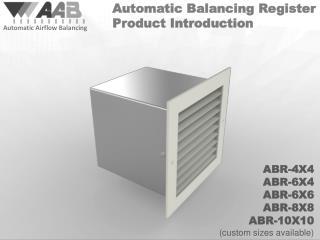 Automatic Airflow Balancing